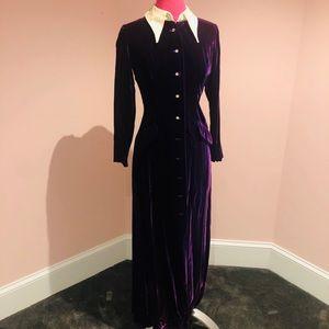 FANTASTIC vintage velvet 60s maxi dress